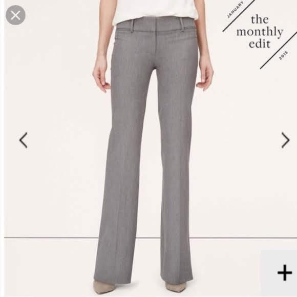 LOFT Pants - LOFT Gray Marisa Trouser